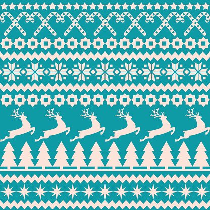 Christmas seamless pattern in the nordic style