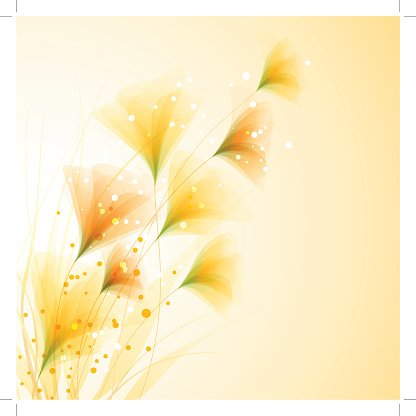 Vector background with flowers