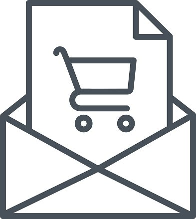 Email icon suitable for info graphics, websites and print media.