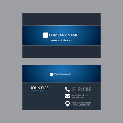 Abstract Elegant Business Card Template.