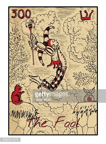 The fool. The tarot card in color