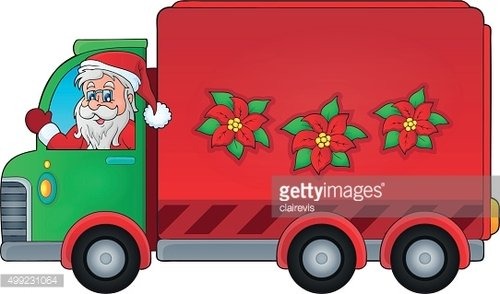 Christmas theme delivery car image 1