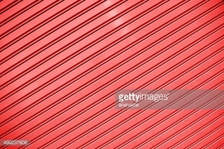 Red stripes Metal sheet wall texture background