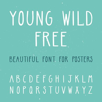 Vector set with thin letters. Trendy alphabet.