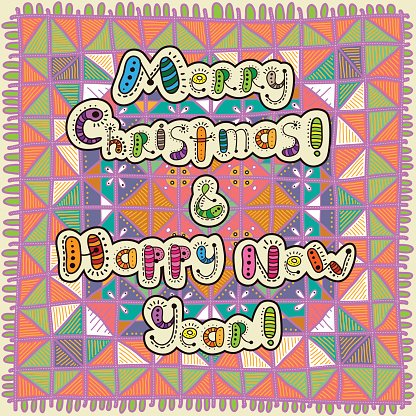 Card Merry Christmas & Happy New Year