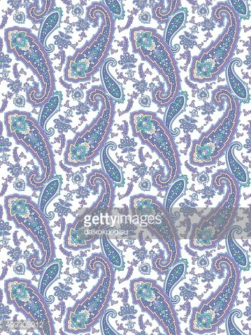 Paisley illustration pattern
