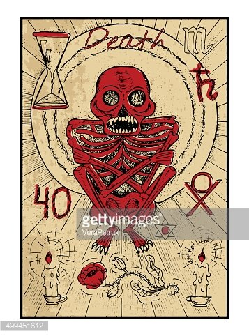 Death. The tarot card in color