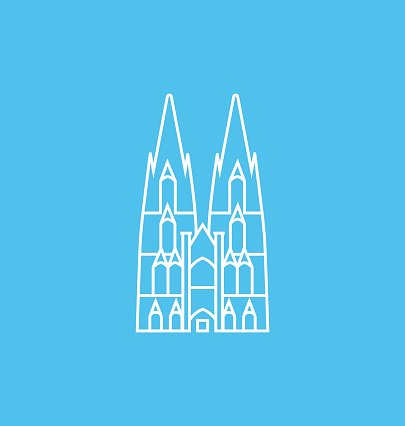 Cologne Cathedral Solid Vector Illustration