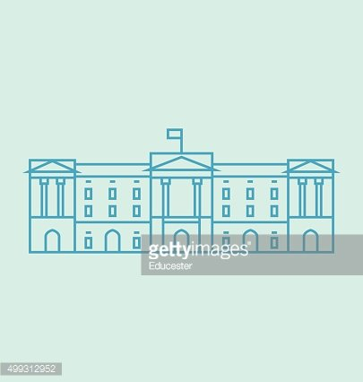 Buckingham Palace Solid Vector Illustration