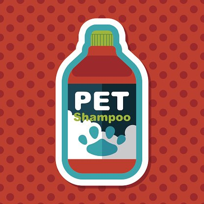 Pet shampoo flat icon with long shadow,eps10