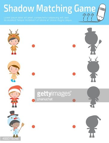 Shadow Matching Game for kids, Visual game for kid.