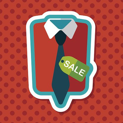 shopping suit flat icon with long shadow,eps10