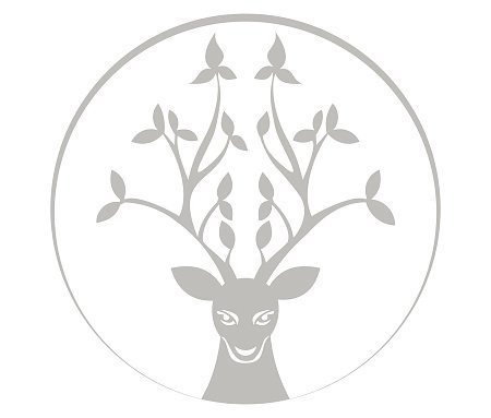 Deer encircled with the moon