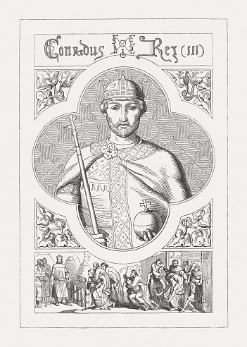 Conrad III of Germany (1093 - 1152), published in 1876