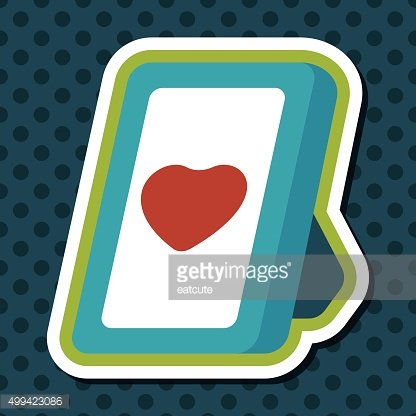Valentine's Day photo frame flat icon with long shadow,eps10