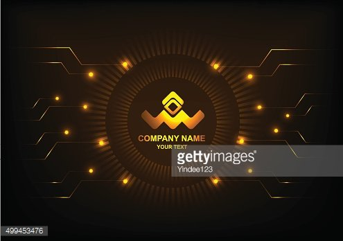 logo vector circle and technology background