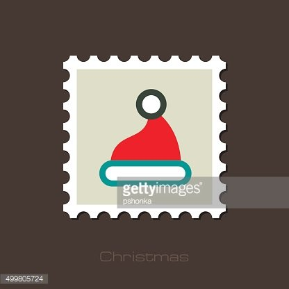 Christmas Hat flat stamp
