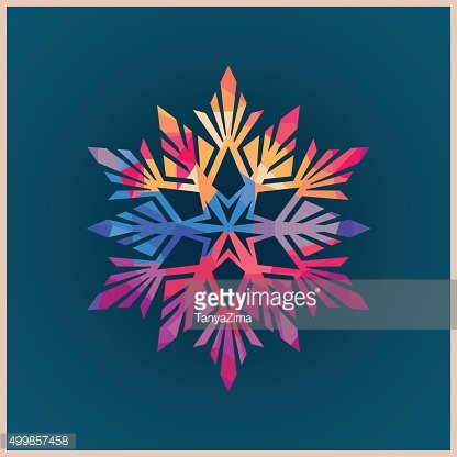 Winter Snowflake Label. Vector icon.