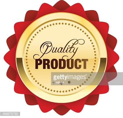 Quality product seal or icon