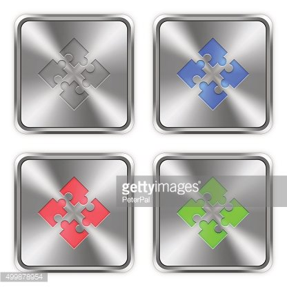 Color modules steel buttons