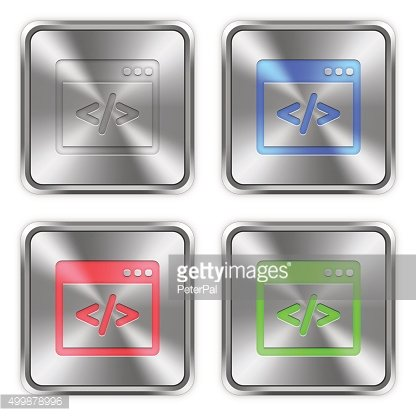 Color programming code steel buttons