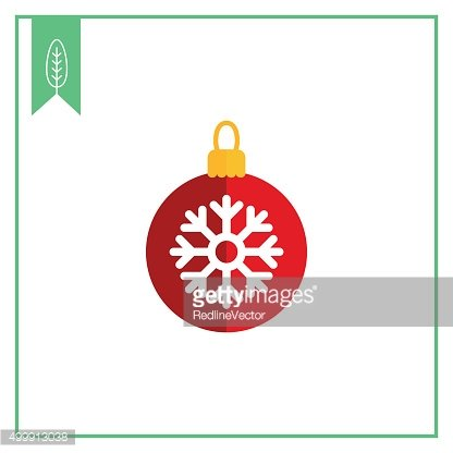 Christmas ball with snowflake picture