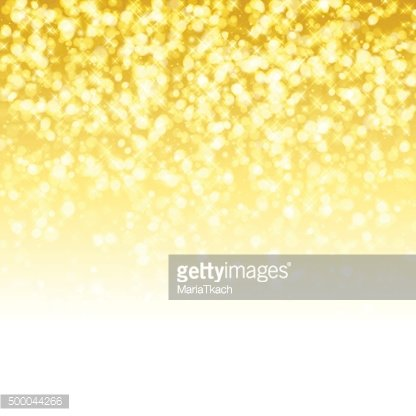 Glitter glow sparkles yellow golden magical background. New year party
