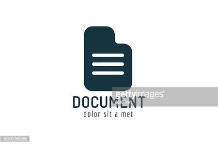 Abstract document paper sheet template icon