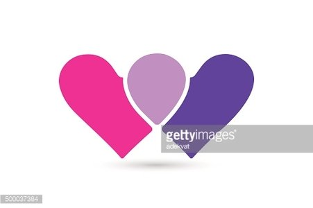 Hearts icon vector together