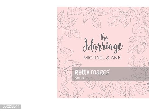 The marriage card