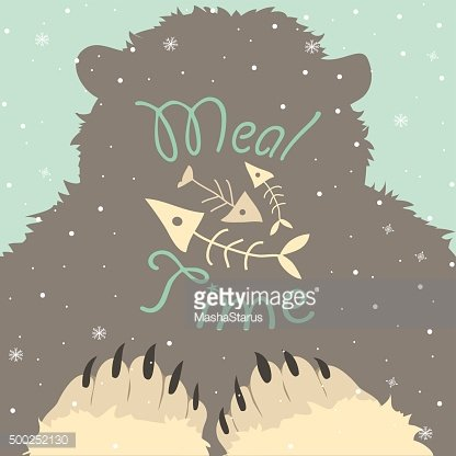 Bear meal time