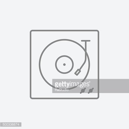Turntable line icon