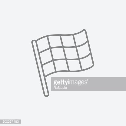 Checkered flag line icon