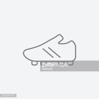 Football boot line icon