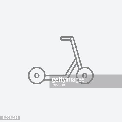 Kick scooter line icon