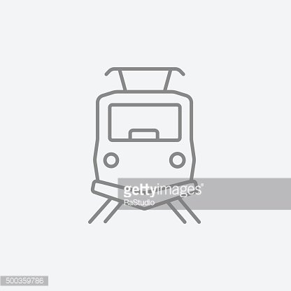 Front view of train line icon