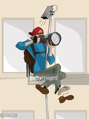Vector Cartoon Illustration Of Photographer