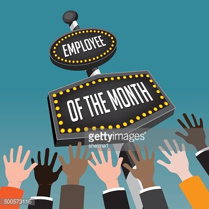 Employee of the month retro sign