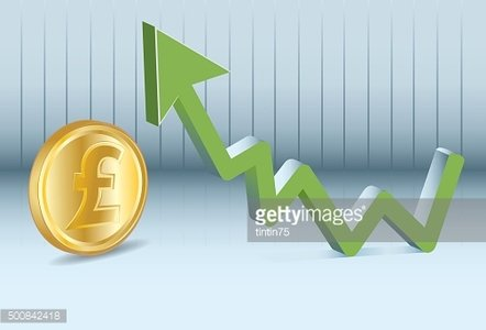 Sterling pound is going up