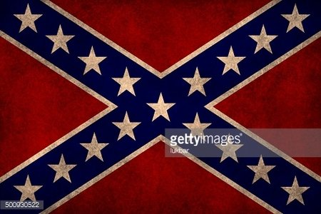 US Confederate flag on grungy background