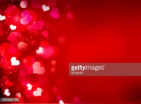 Valentine's red bright background with empty copy space.