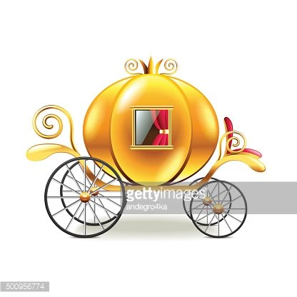 Princess carriage isolated on white vector
