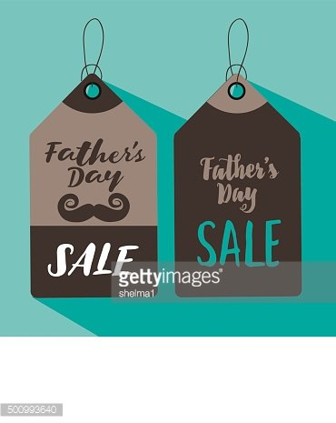 Father's Day sale price label set