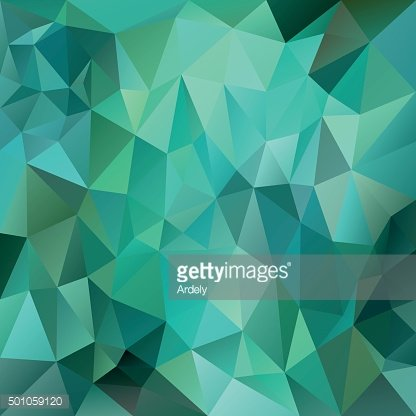 green emerald polygon background