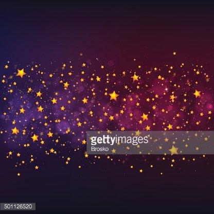 Vector Christmas background with gold stars