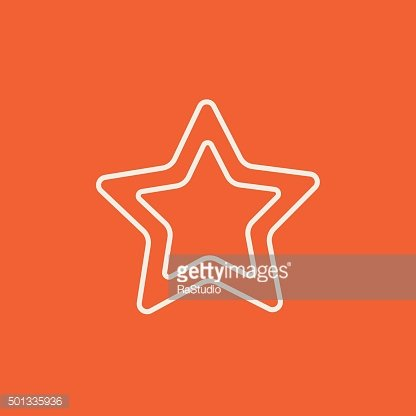Rating star line icon