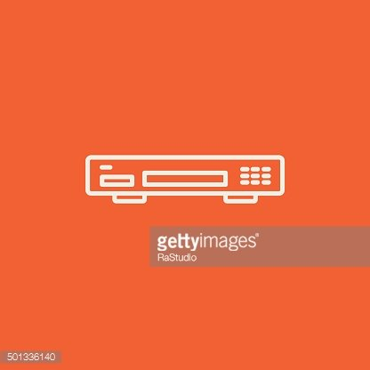 Video recorder line icon
