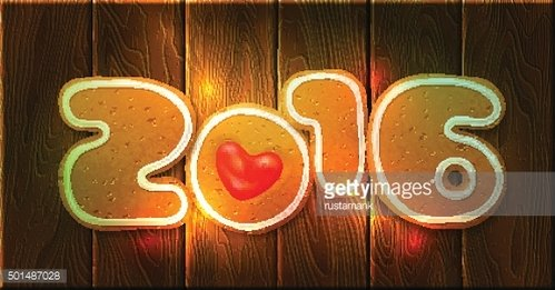 New Year 2016 Greeting card template