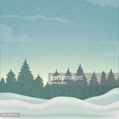 winter background, landscape, christmas, new year