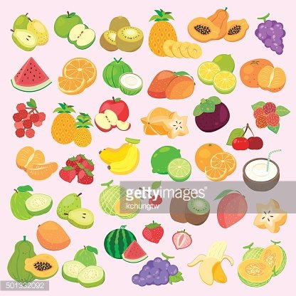 fruit collections set